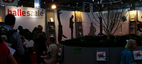 Halle auf der Buchmesse in Leipzig