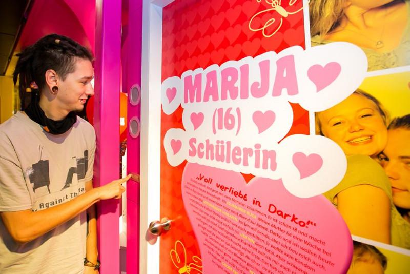 Sexualität und Aufklärung, Rollende Kondomschule, Foto: BZgA