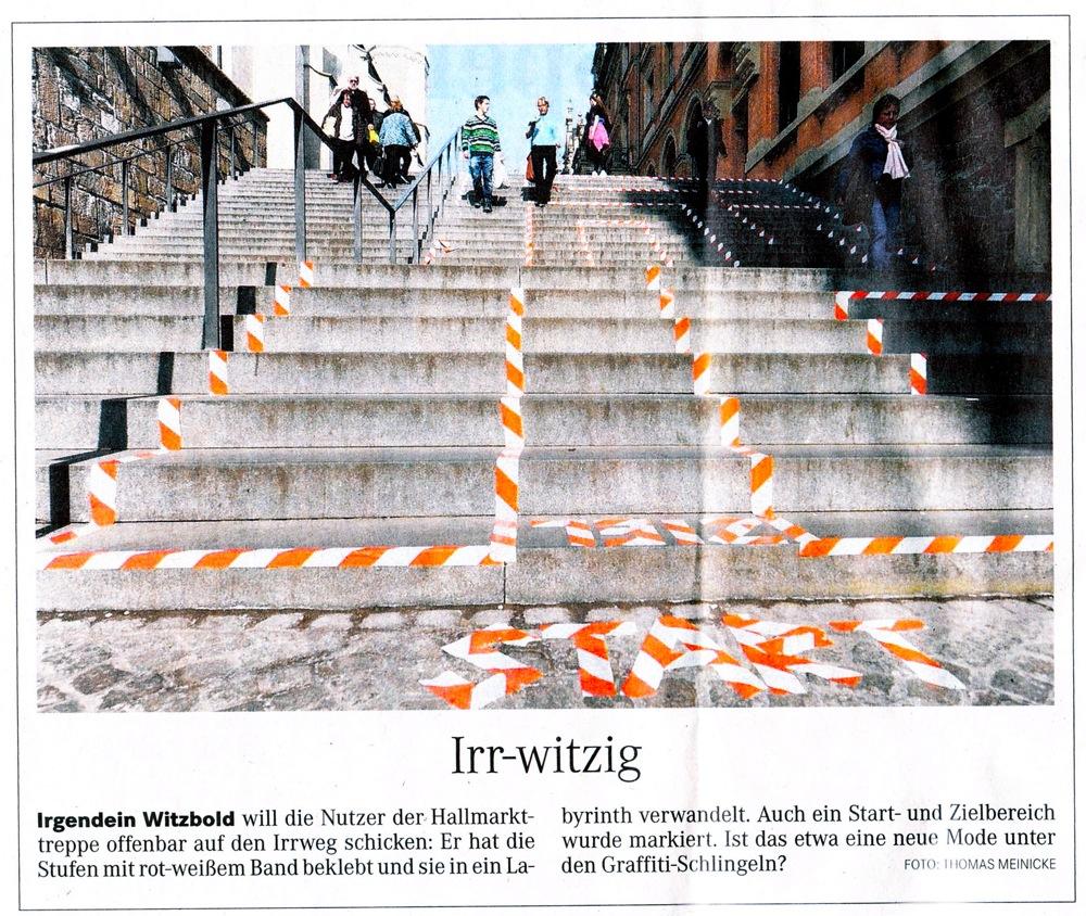 Street Art Labyrinth die Auflösung des MZ-Artikels vom 21. Apr. 12